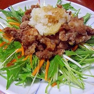 簡単で美味しい豚肉のカリカリおろしポン酢あえ