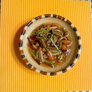 ワラビとナメコの醤油煮♪