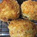 大葉とチーズ入りライスコロッケ♪スパム缶詰使用