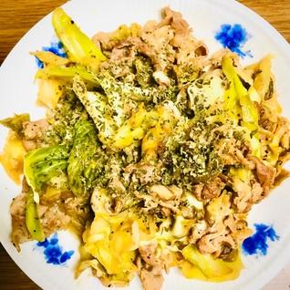 野菜炒め〜豚肉とバジルのレモンチーズ炒め