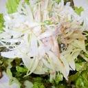 新玉ねぎとツナカイワレ大根のサラダ