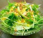 つぶつぶコーンの葉っぱサラダ