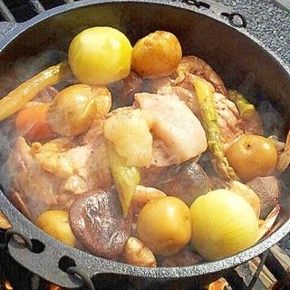 ダッチオーブンで✿お肉と野菜のクレソル蒸し焼き❤