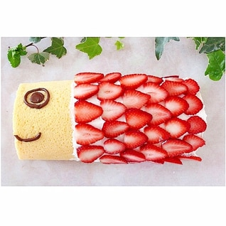 こいのぼりケーキ★子供の日のロールケーキ