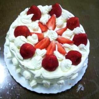 イチゴのショートケーキ(失敗なしのスポンジケーキ)