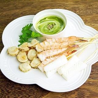 【変り種!!】魚介のバーニャカウダ