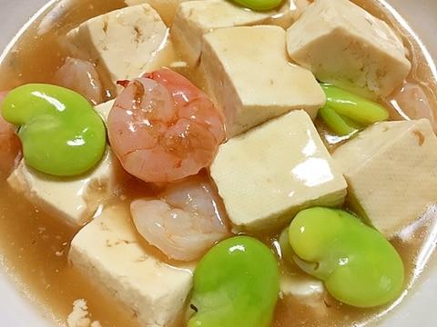 旬を食べよう!そら豆と豆腐の中華風うま煮♪