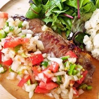 サーロインステーキ・ビナグレッチソース