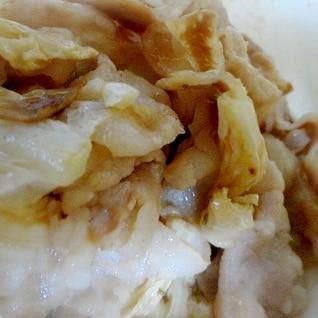 豚バラと白菜の漬物の炒めもの