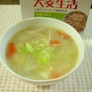 大麦ごはん入り参鶏湯風スープ