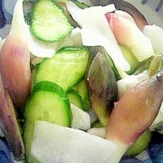 根昆布だしで作る野菜の漬物