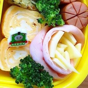 お弁当やキャラ弁に♥ハムとチーズでバラ♡簡単おかず