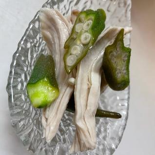 ☆オクラと蒸し鶏のヘルシーマリネ☆
