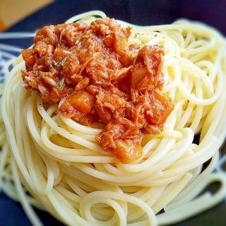 唐辛子ツナの缶詰で!簡単冷製トマトツナパスタ
