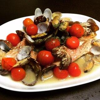 赤魚のアクアパッツァ、おもてなしにもどうぞ