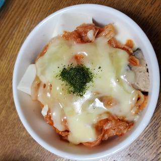 豆腐&サバ缶のキムチチーズ