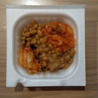 白菜キムチの酢納豆♡