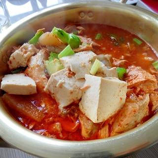 豆腐入りピリ辛スープ