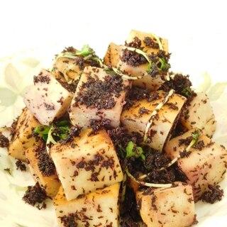 高野豆腐バターめんつゆ炒めゆかり和え
