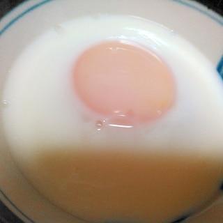蒸し器で温泉卵
