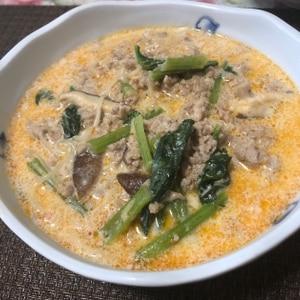 めんつゆと牛乳で冷やし坦々麺