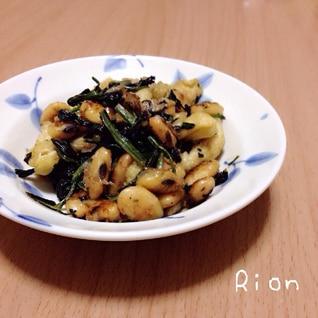 大豆と油揚げの炒めもの