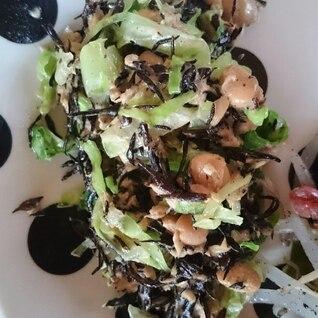 大豆とツナとひじきのサラダ
