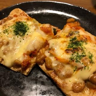 ヘルシー☆納豆キムチピザ