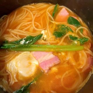 簡単!スープキムチパスタ!