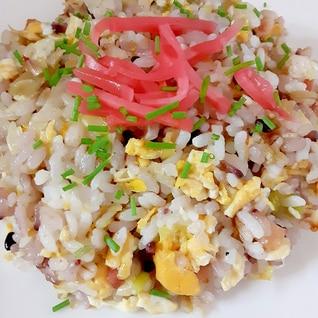 雑穀米のシンプル炒飯♪