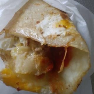 パンが無い時の朝食簡単プリート♪