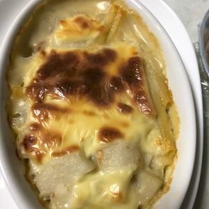 ほくほく食感☆豚肉と里芋のチーズ焼き