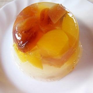 干し柿と黄桃の寒天