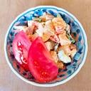 トマトと胡瓜の薩摩芋サラダ
