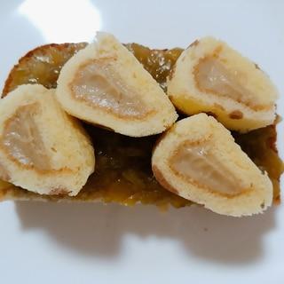 茄子ジャムと東京バナナのトースト