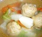 かんたん!ヘルシー!野菜たっぷり肉団子スープ