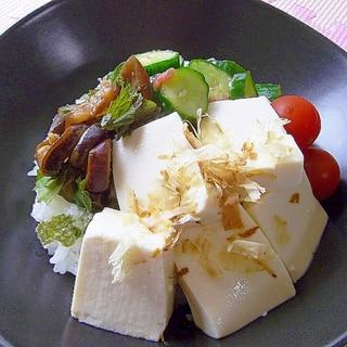 夏バテ対策!!さっぱり♪もりもり♪浅漬け豆腐丼