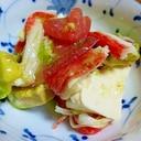 アボガドと豆腐とトマトのサラダ