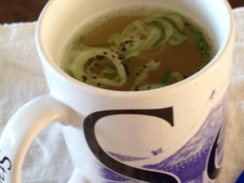 レンジ&マグカップで簡単♪スープパスタ
