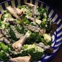 オイルサーディン缶で簡単!ブロッコリーの温サラダ