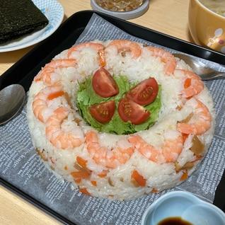 簡単海老とちらし寿司のリースケーキ