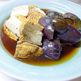 冷やして食べる、茄子と厚揚げの煮もの