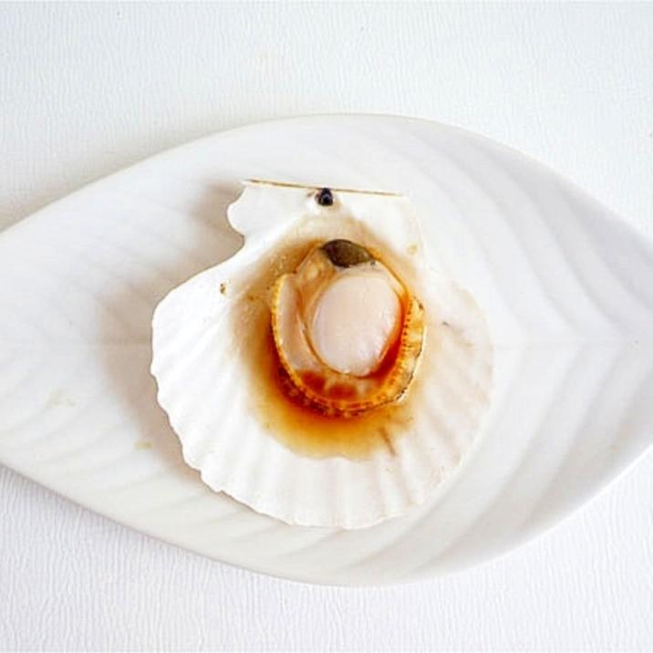 殻付き帆立の酒蒸し