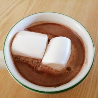 バレンタインに☆マシュマロとろけるコーヒーココア