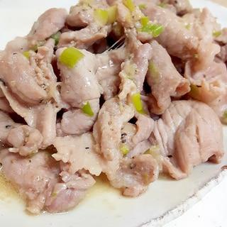 ネギ塩ダレ!(^^)シンプルな豚肉炒め♪