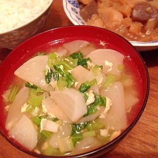 カブと卵の中華スープ