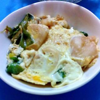 賀茂ネギとおふの卵とじ