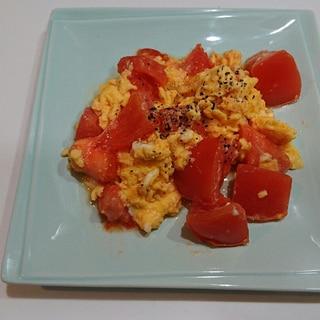 節約時短!トマト卵炒め