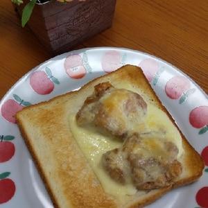鶏唐チーズトースト