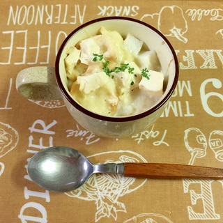 子どもも大好き!お麩と豆腐と長芋のふわふわグラタン